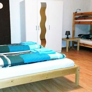 Vierbettzimmer für Monteure in Burgau